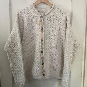 Vintage ALPS Cream Knit Cardigan